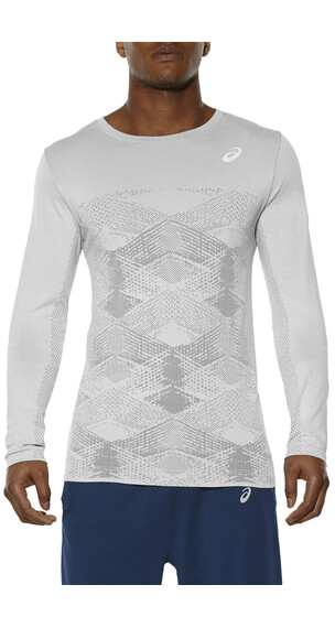 asics Seamless Crew LS Men Mid Grey